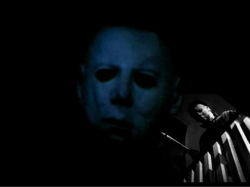 Michael Myers wallpaper possibly with a spatula called Michael