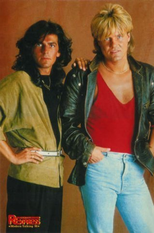 Modern Talking kertas dinding with a hip boot titled Modern Talking - Dieter Bohlen/Thomas Anders
