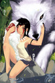 Mononoke Hime - San and Moro