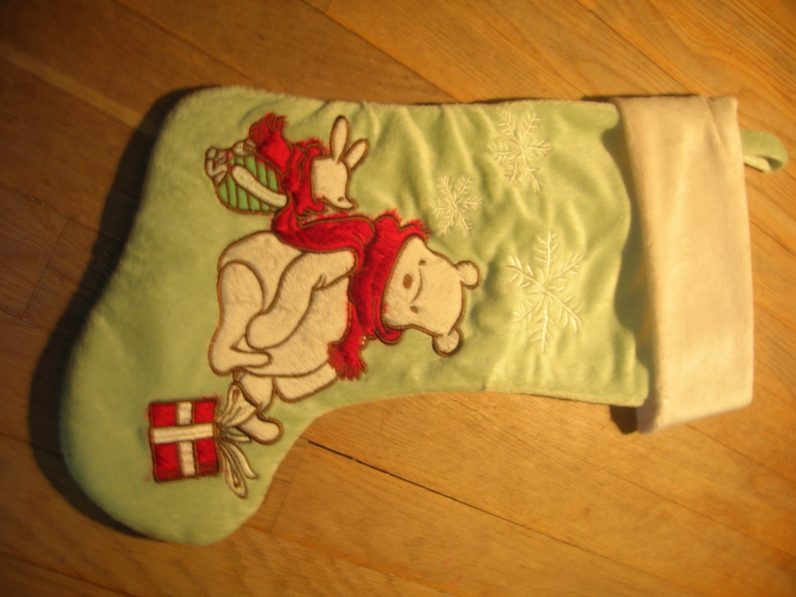 My New Piglet and Pooh Bear Christmas 2009 Stocking