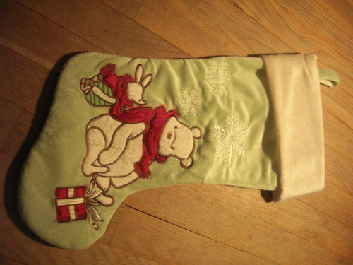 My New Piglet and Pooh kubeba krisimasi 2009 stocking, pantyhose
