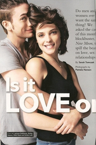 Jackson Rathbone & Ashley Greene 바탕화면 possibly containing a portrait titled OMG!! Jackson & Ashley in Glamour UK