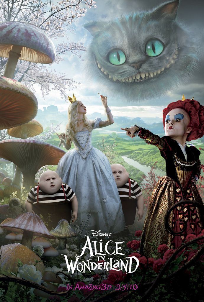 Official Movie Poster for Tim Burton's 'Alice In Wonderland' (HQ)