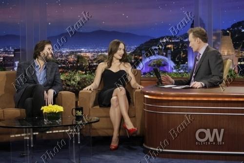 Olivia @ The Tonight Show with Conan O'Brien