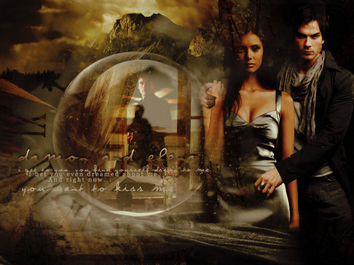 Perfect couple - Elena and Damon Salvatore. <3