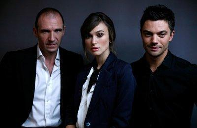 Ralph Fiennes, Keira Knightley and Dominic Cooper