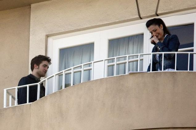 Rob and Kristen at their Hotel