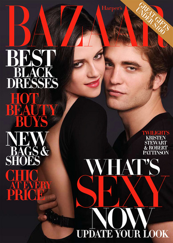 Robert Pattinson And Kristen Stewart In The December 2009 Issue Of Harper's Bazaar