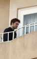 Robert Pattinson: Balcony Smoke Session - twilight-series photo