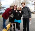 Robert Pattinson EDWARD with fans - twilight-series photo
