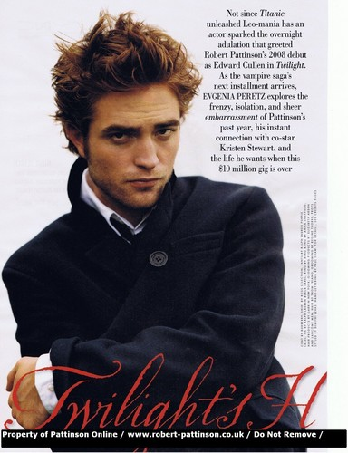 Robert Pattinson: Vanity Fair December Issue Scans