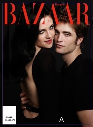 Twilight Series wallpaper possibly containing a portrait and anime titled Robert Pattinson and Kristen Stewart - Harper's Bazaar Outtakes!!!