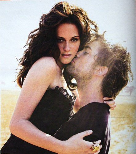 Siri-siri Twilight kertas dinding probably with tights, a leotard, and a bustier called Robert Pattinson and Kristen Stewart - Vanity Fair photoshoot