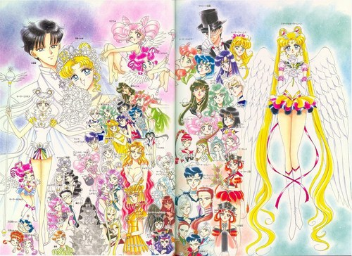 Sailor Moon Sailor Stars wallpaper probably with a bouquet and a stained glass window entitled Sailor Moon Sailor Stars Artbook