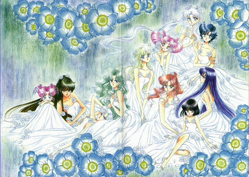 Sailor Moon Sailor Stars karatasi la kupamba ukuta entitled Sailor Moon Sailor Stars Artbook