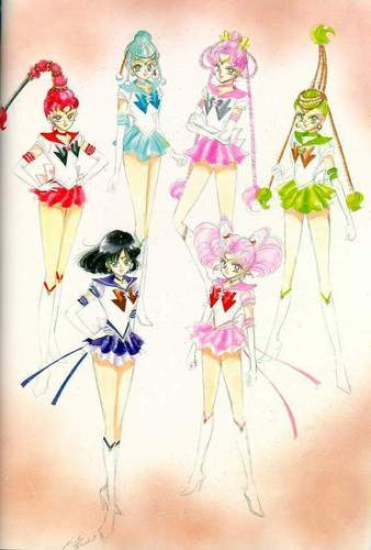 Sailor Moon Sailor Stars wallpaper probably containing a bouquet entitled Sailor Moon Sailor Stars Artbook