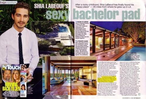 Shia LaBeouf's Bachelor Pad (People Scan)