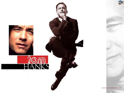 Tom Hanks wallpaper containing a business suit, a suit, and a well dressed person titled Tom Hanks / Movies Wallpapers