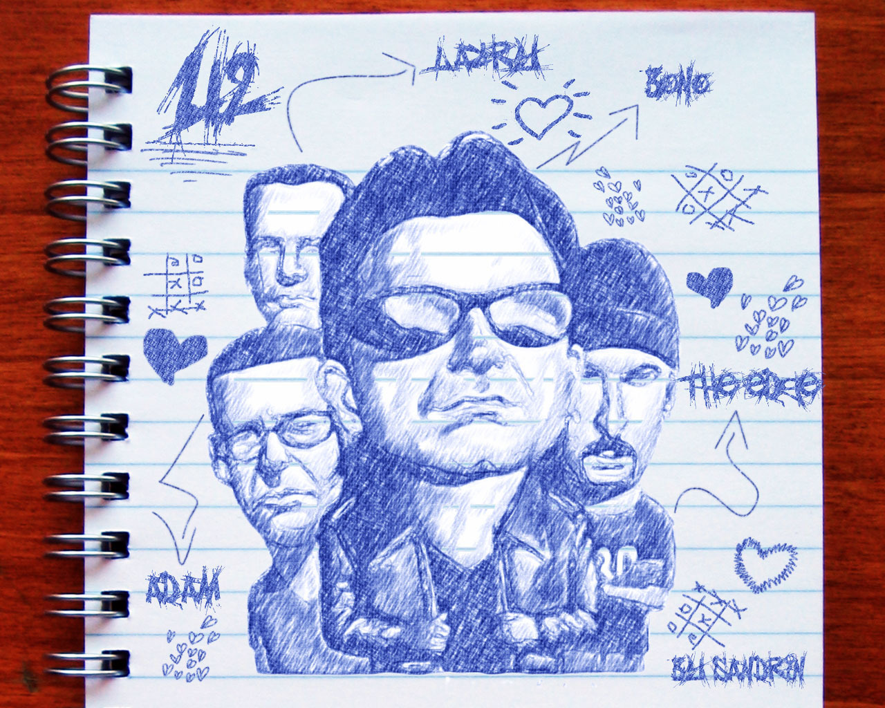 U2 kertas-kertas dinding