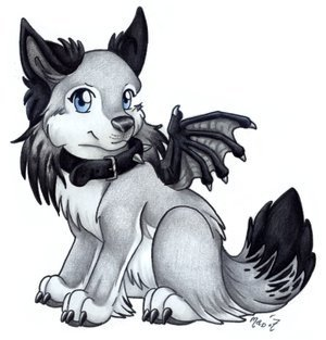 Cute Demon wolf
