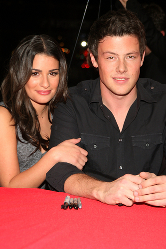 Did finn and rachel dating in real life