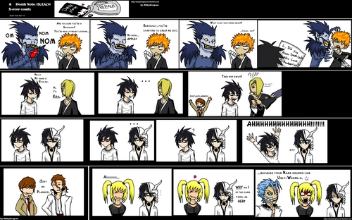 death note+ bleach comic