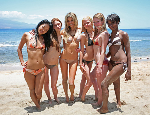 America's Next Top Model wallpaper containing a bikini called marissa miller and the five finalist