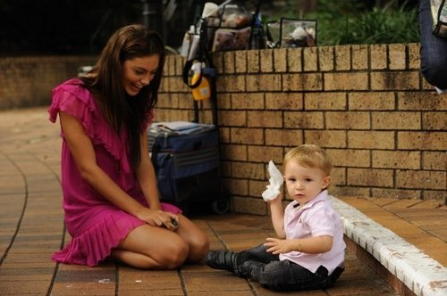 phoebe with a little boy