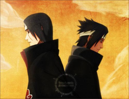 sasuke and itachi achtergrond