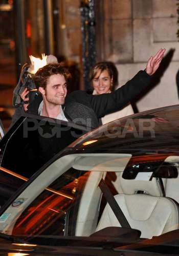 Robert Pattinson Leaves Hotel Crillon - LONDON
