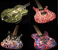 crystal encrusted gutiars - guitar photo