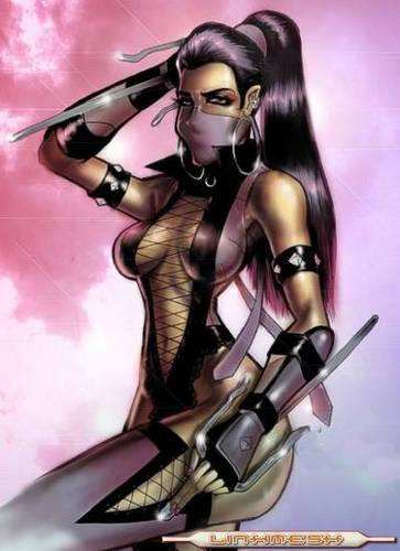 Mortal Kombat kertas dinding possibly containing Anime entitled mileena