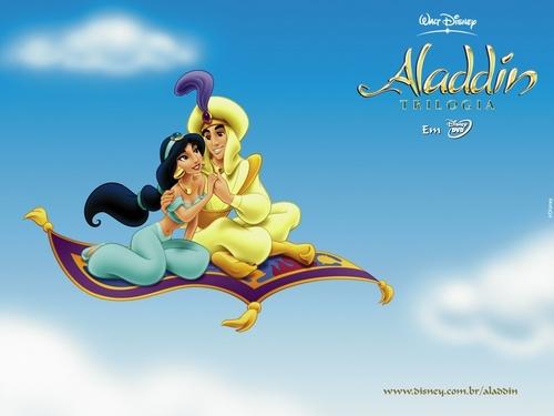 Aladdin wallpaper entitled Aladdin & Jasmine
