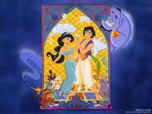 Aladdin wallpaper called Aladdin & gelsomino