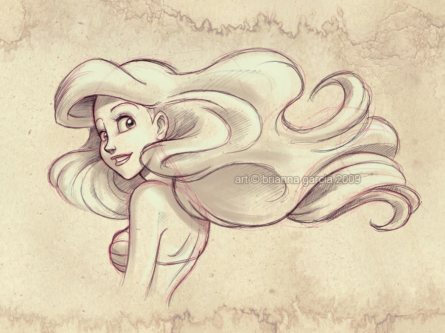 Gallery For gt Disney Princess Ariel Sketches