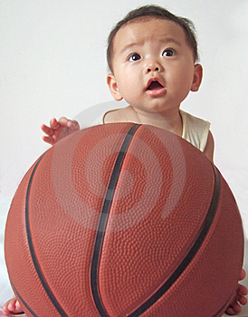 Sweety Babies wallpaper with a basketball, a dribbler, and a basketball player called Baby Boy