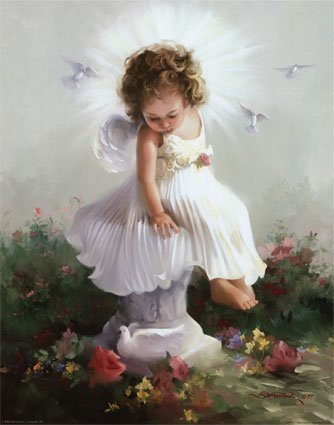 Sweety Babies achtergrond containing a bouquet titled Baby angel
