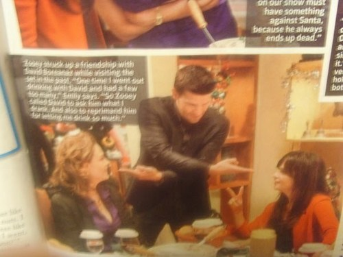 Bones wallpaper with a newspaper titled Bones Christmas episode- Preview with TV Guide!