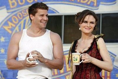 "Booth and Bones as ""Buck and Wanda"""