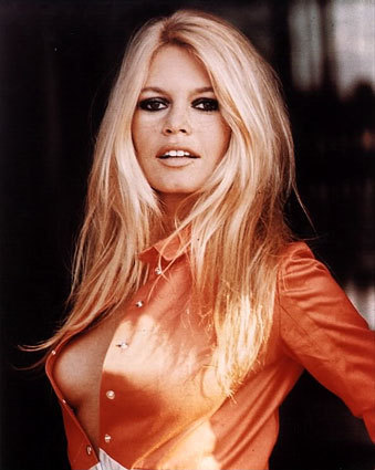 Brigitte Bardot karatasi la kupamba ukuta probably with attractiveness, a chemise, and a portrait titled Brigitte Bardot