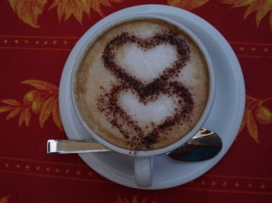 Любовь Обои possibly containing a coffee break entitled капучино HEARTS