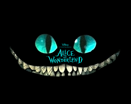 Alice in Wonderland (2010) kertas dinding titled Cat
