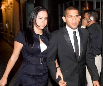 Dani Alves & wife - wags Photo