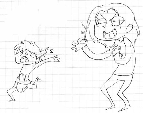 Drawing of Olivia द्वारा my friend :)