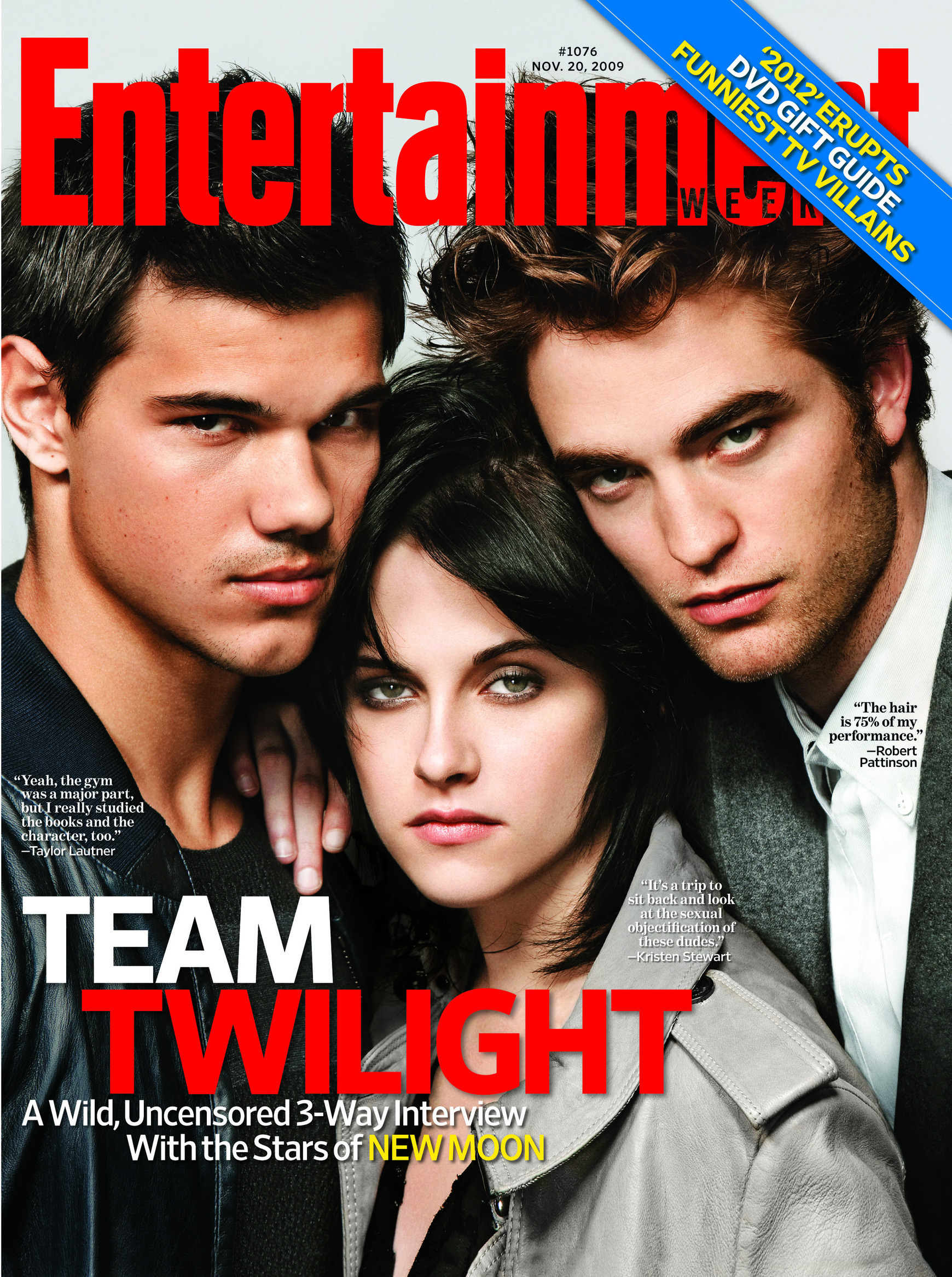 EW Cover with Rob, Kristen and Taylor