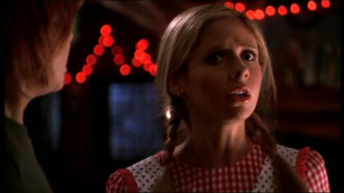 Buffy Summers দেওয়ালপত্র with a portrait entitled Fear Itself