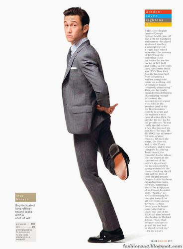 Joseph Gordon-Levitt karatasi la kupamba ukuta containing a business suit, a well dressed person, and a suit entitled GQ 2009