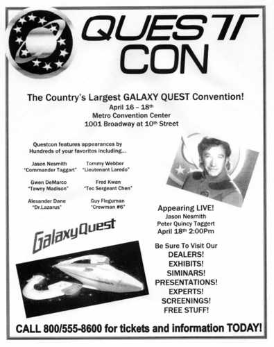 Galaxy Quest Quest Con Flier