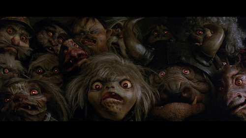 Labyrinth wallpaper entitled Goblins with Glowing Red Eyes