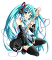violão, guitarra Miku
